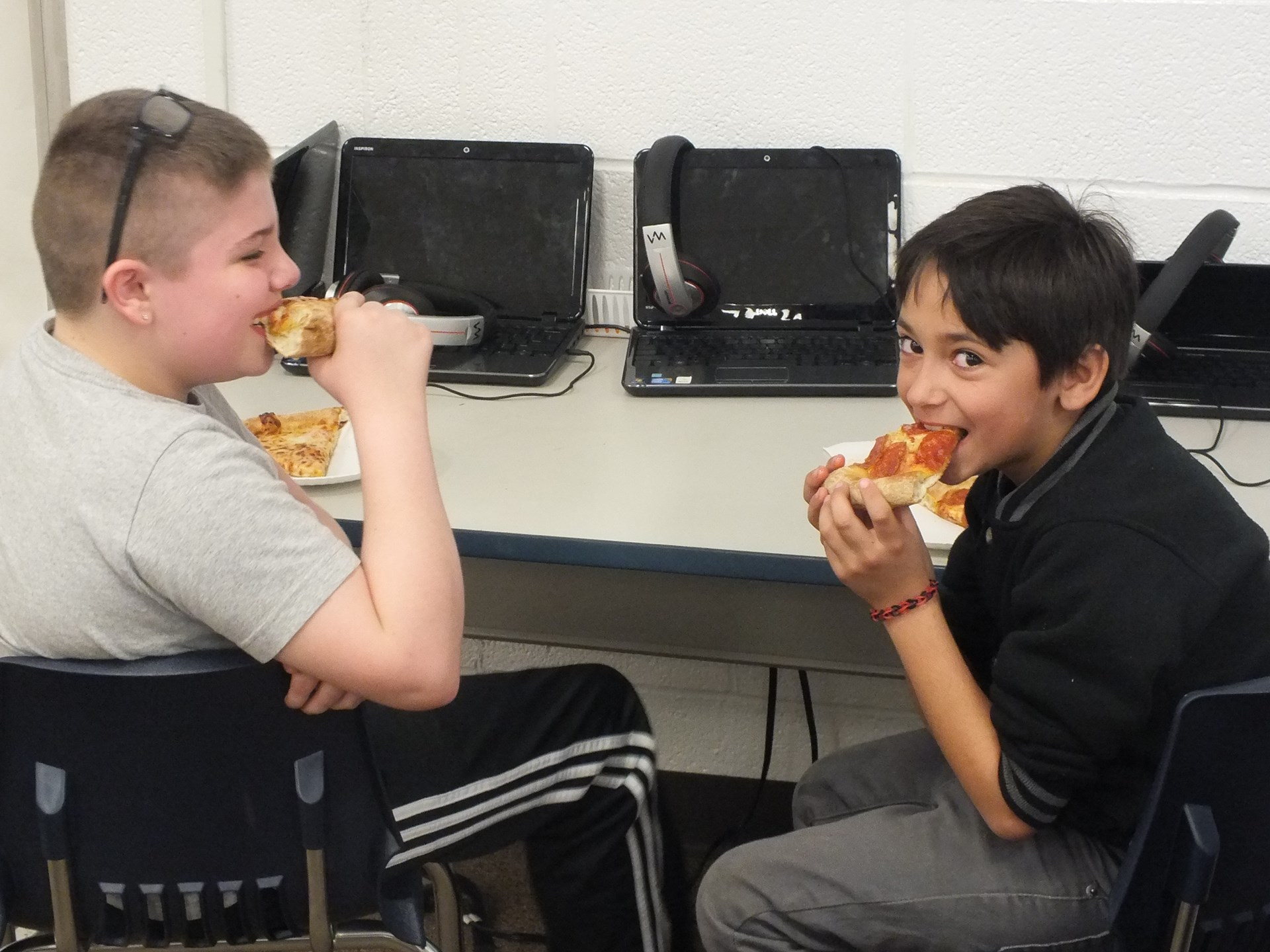 Over 50 Elementary students enjoyed a Pizza Party for their achievement on the STAR Reading Test.