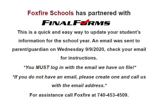 Final Forms Notice